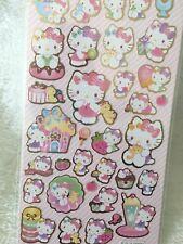 Hello Kitty Stickers Shinny Pink Sario Scrapbook diary Children Cardmaking DIY