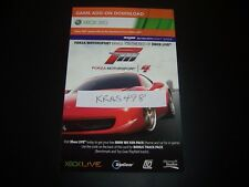 Forza Motosport 4 Xbox 360 Add-on DLC Card Bonus Track Pack