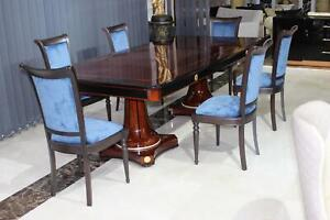 Armchairs Chair Set Group Dining Room Wood Pads Chairs 6x Immediate Available