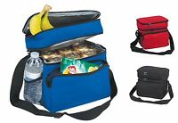 "10"" Cooler & Lunch Bag Tote in One Beer Picnic Water Box Secure Insulated Pocket"