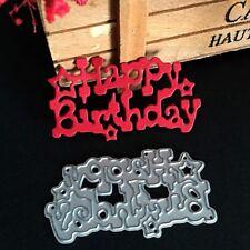 Happy Birthday Cutting Dies DIY Scrapbooking Embossing Album Paper Card Craft
