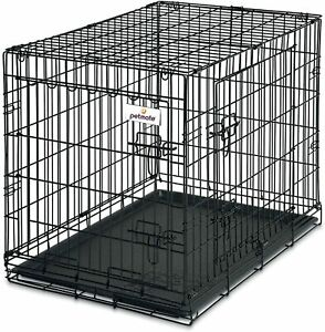 Petmate 30-Inch 2-Door Training Retreats Wire Kennel Dogs 30-50lbs (Damaged Box)