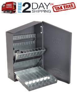 Steel Index Case Drill Jobber Bits Holder Organizer Box Storage Empty Standard..