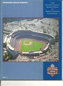 1996 National League Division Series Los Angeles Dodgers Home Program