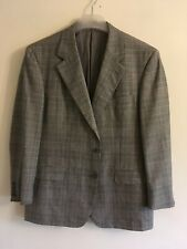 DUNHILL CLASSIC PRINCE OF WALES CHECK SUIT JACKET 44 TROUSERS 38/L32