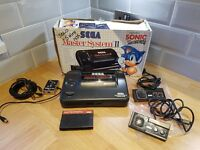 Boxed Retro SEGA MASTER SYSTEM II 2 Console Bundle Sonic The Hedgehog Alex kid