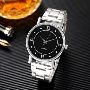 Men's Minimalist Ultra Thin Casual Analog Quartz Watch w/Stainless Steel Strap