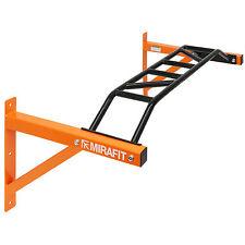 MIRAFIT Orange Wall Mounted Multi Grip Chin/Pull Up Bar Home Gym Body Workout