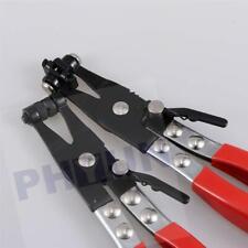 2 pc Tool Set Hose Clamp Pliers Locking Flat Band Ring Spring Type Swivel