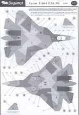 Begemot Decals 1/72 SUKHOI T-50 PAK-FA Russian Advanced Fighter