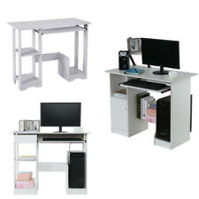 Office Home Computer Desk Study Table Furniture Laptop Top With Drawer Shelves ☀