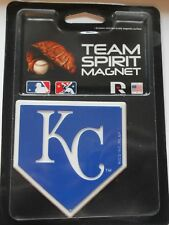 "Kansas City Royals Team Spirit Magnet. 3"" x 3"". Shape of Home Plate   #589"