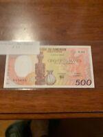 CAMEROUN 500 FRANCS 1985 A5 P24 CAMEROON Unc