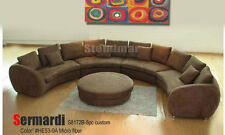 "188""W 4PC FABRIC MODERN ROUND SECTIONAL SOFA S8172C"
