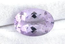 33.22 Carat Natural Brazilian Oval Rose De France Amethyst Gemstone Gem Stone