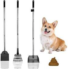 Expawpet Poop Tray And Rake - Large Dog Pooper Scooper With Spade - 1 Metal Tray