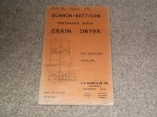 Blanch-Bettison Grain Dryer Rare Collectors Vintage Parts Operators Manual