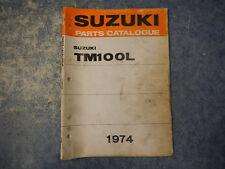 1974 SUZUKI TM100 CRUSADER PARTS CATALOGUE MANUAL TM 100 L 74 75 1975