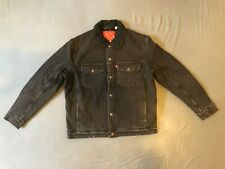 Levi's Engineered Jeans Sherpa Trucker Jacke Size M Herren Midnight black Levis