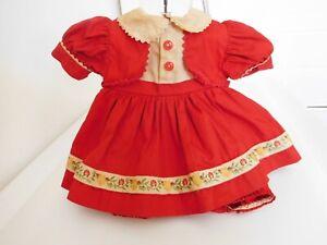 "Rare! Vintage 1951 Ideal Dress for 18"" Judy Splinters Stuffed Vinyl Doll"