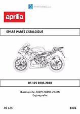 Aprilia parts manual book 2006, 2007, 2008, 2009 & 2010 RS 125
