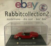 "DIE CAST "" OT 2000 SPORT SPIDER - 1966 "" + TECA RIGIDA  BOX 2 SCALA 1/43"