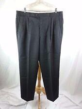 MEN'S BRANDINI COLLEZIONI DRESS PANTS SLACKS SIZE 40 X 32 BLACK