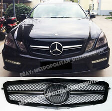 Mercedes E,2009-13,w212 s212,saloon estate grille,BLACK AMG E63 look,Large Star