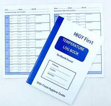 6 (Six) Month Kitchen Fridge Freezer Chiller Temperature Record Log Book A5 A101