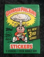 1986 Garbage Pail Kids 3rd Series Unopened Wax Pack 25 Cent Variant Box Fresh