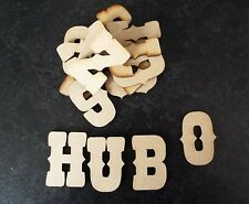 Wooden Letters (3 Cm) Full Alphabet X 2 Over 55 Pieces Laser Cut 3 Mm MDF