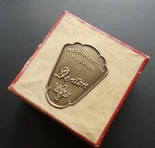 vintage 1950s signed jewellery box for Denton bone chain flower brooch -N112