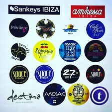 18 x Ibiza Club Stickers  - Amnesia Space Sankeys Carl Cox Mambo Cafe del Mar