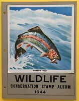 Wildlife Conservation Stamp Album 1944, Complete with 39 Poster Stamps