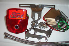 1953-60 Ford F100 stainless light kit, right & left pair with script & blue dot.