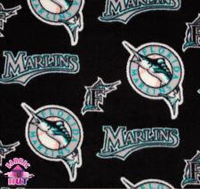 Throwback Florida Miami Marlins MLB Fleece Fabric 6576 B