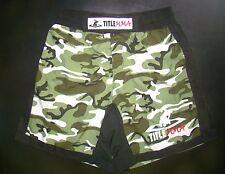 TITLE MMA SZ.L CAMOUFLAGE PREMIUM QUAD FLEX GRAPPLING BOXING/TRAINING/GYM SHORTS