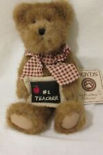 Boyds Bear Miss Bea Wise #1 Teacher Plush Jointed Teddy Bear with Tag 8""