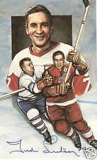 Ted Lindsay Autographed Legends of Hockey PostCard