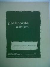 songbook PHILICORDA ALBUM M. Berrevoets, Chappell