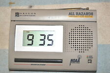 OREGON SCIENTIFIC WR-3000 WEATHER RADIO ALERT ALARM CLOCK FULLY TESTED CLEAN