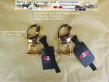 Horse Harness Trace to Carriage Quick Release Brass Snap Shackles 3 Sizes C1