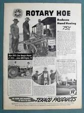 1956 Texaco Non Celebrity Endorsement Ad  A.D. HATTON of Dothan Ala ROTARY HOE