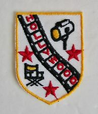 Vintage Embroidered Patch Hollywood California Movie Stars Film Director Stage