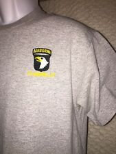 Airborne Fort Campbell Kentucky T-Shirt Size Adult Medium - sewn decal