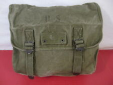 WWII Era US Army/USMC M1936 Canvas Musette Bag - OD Green Color 1945 - NICE #2