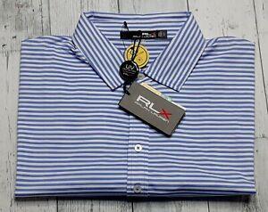 NWT Ralph Lauren RLX Performance UV Protection Stretch Golf Polo Shirt Men's XL