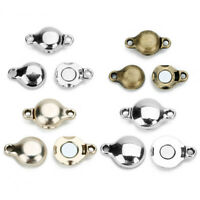 10Set Silver Strong Magnetic Clasps For Necklace Bracelet Buckle Connector 14mm