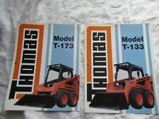 Lot of 2 Thomas specification brochure T-133 and T-173