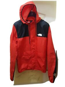 Gents, THE NORTH FACE Hooded Jacket. Size Small. Colour Red/ Black.